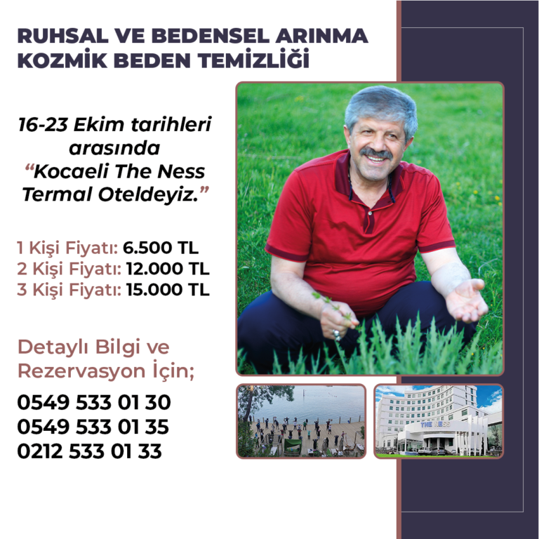 "16-23 EKİM ""KOCAELİ THE NESS TERMAL OTEL'DEYİZ!"